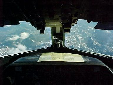 HS748 Cockpit View between Old Crow and Fairbanks