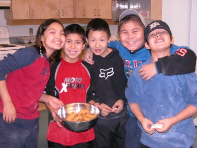 Chief Zzeh Gittlit School Students - Photo by T. Josie